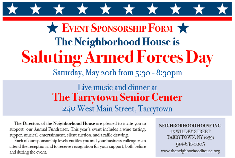 Saluting Armed Forces Day 2017 Sponsorship Form
